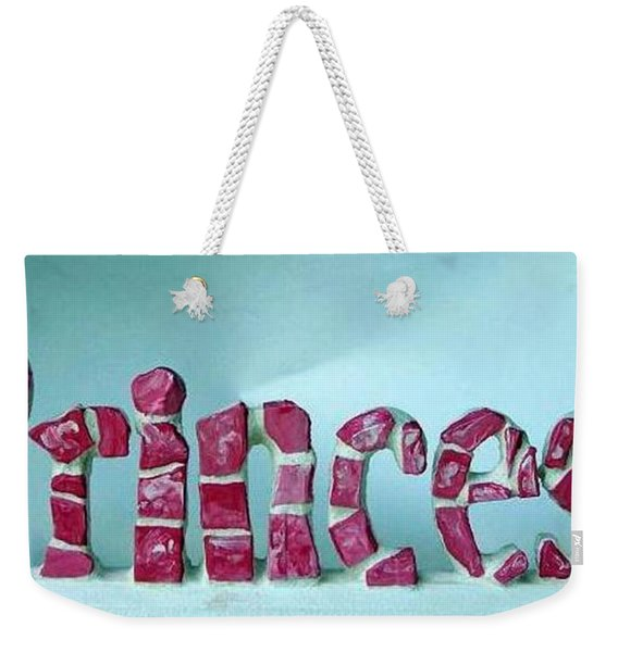 Weekender Tote Bag featuring the glass art Princess by Cynthia Amaral