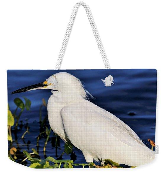 Profile Of A Snowy Egret Weekender Tote Bag