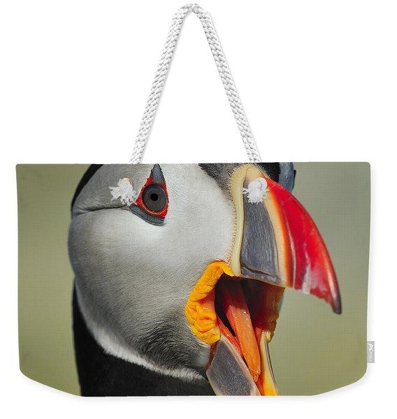 Puffin Portrait Weekender Tote Bag