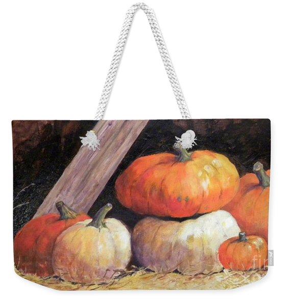 Pumpkins In Barn Weekender Tote Bag