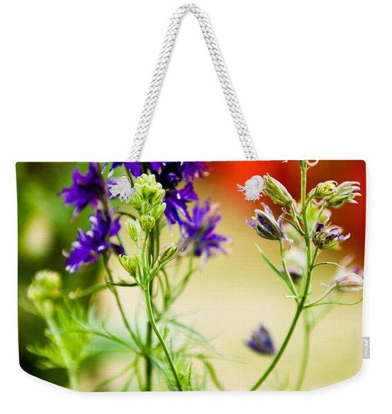 Purple Flowers Weekender Tote Bag