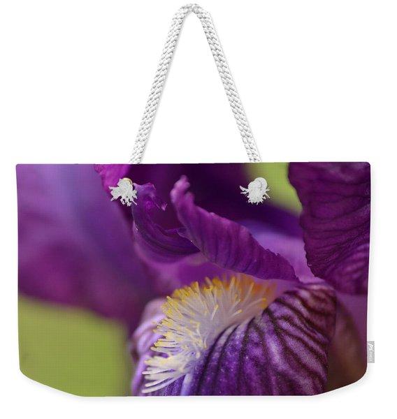 Purple Iris 1 Weekender Tote Bag