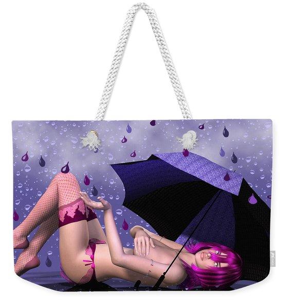 Purple Rain Weekender Tote Bag