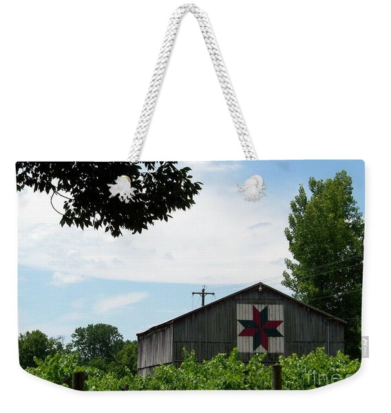 Quilted Barn And Vineyard Weekender Tote Bag