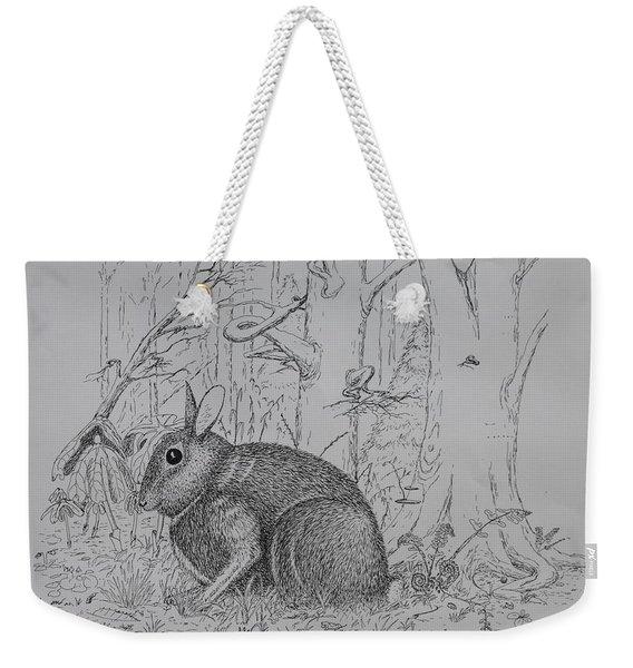 Rabbit In Woodland Weekender Tote Bag