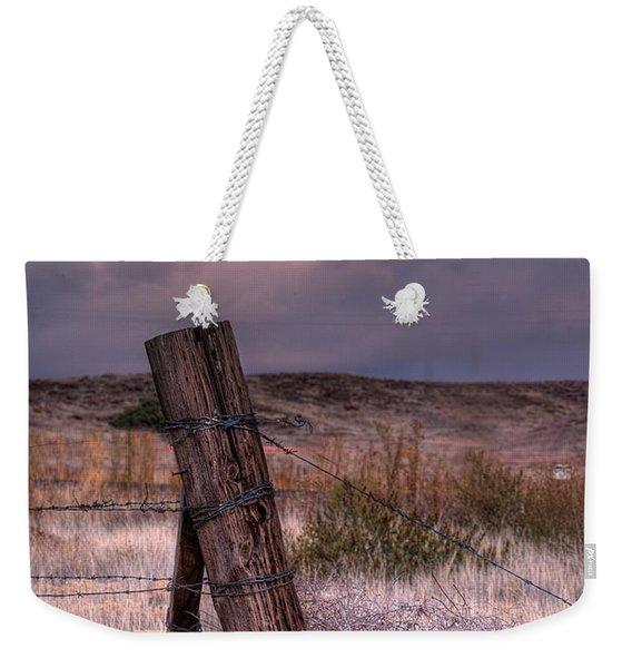 Ranch Fence Post Weekender Tote Bag