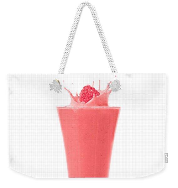 Raspberry And Strawberry Smoothie Weekender Tote Bag