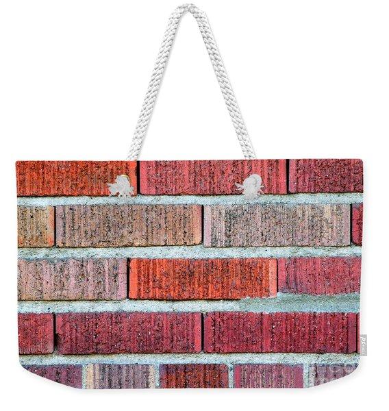 Red Brick Wall Weekender Tote Bag