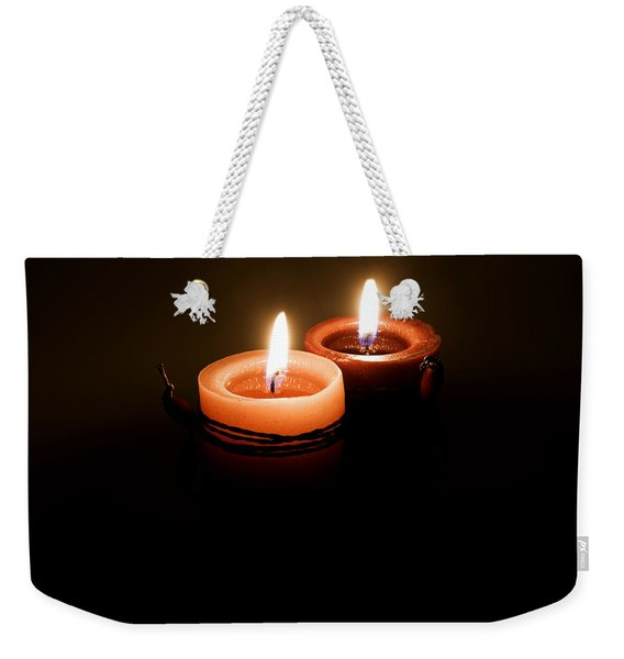 Red Candles Weekender Tote Bag