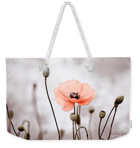 Red Corn Poppy Flowers 01 Weekender Tote Bag