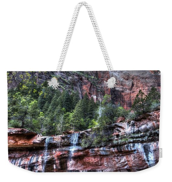 Red Falls Weekender Tote Bag
