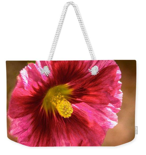 Red Hollyhock Weekender Tote Bag