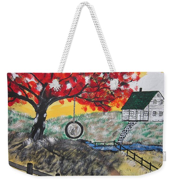 Red Maple  Swing Weekender Tote Bag