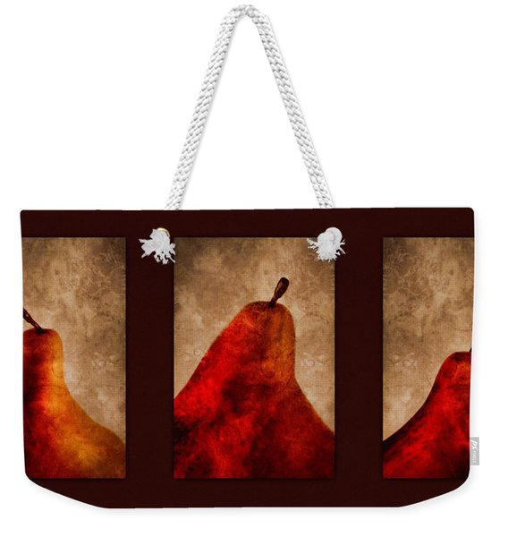Red Pear Triptych Weekender Tote Bag