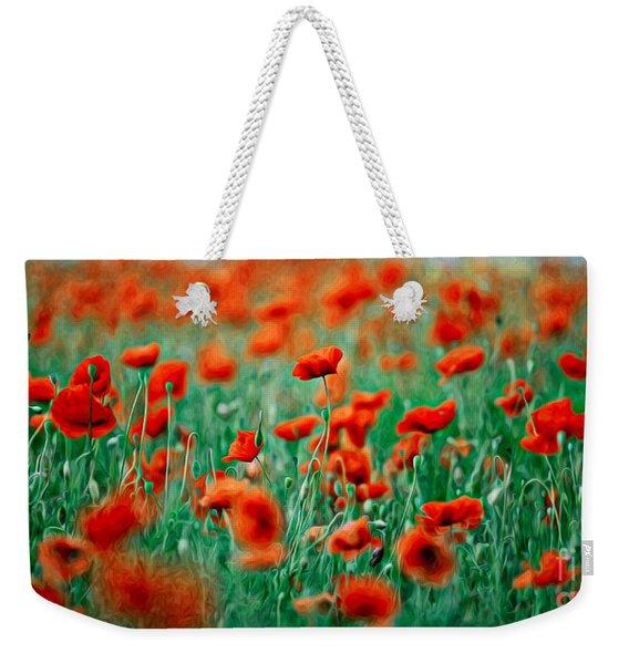 Red Poppy Flowers 04 Weekender Tote Bag