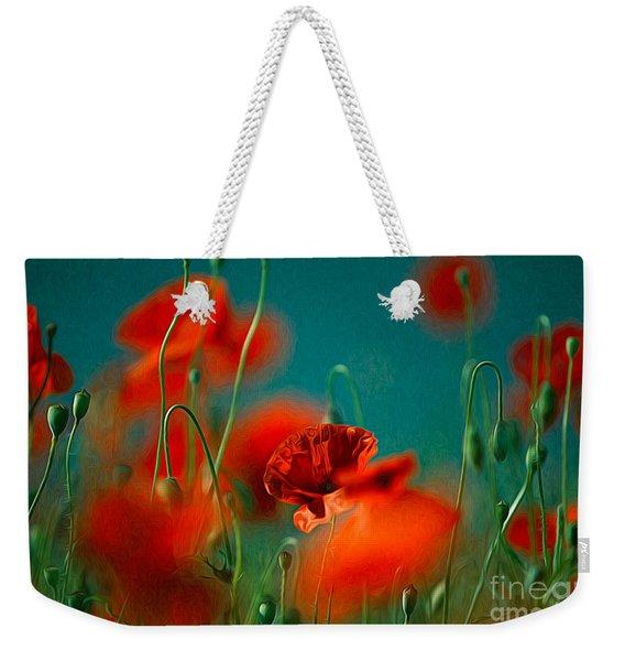 Red Poppy Flowers 05 Weekender Tote Bag