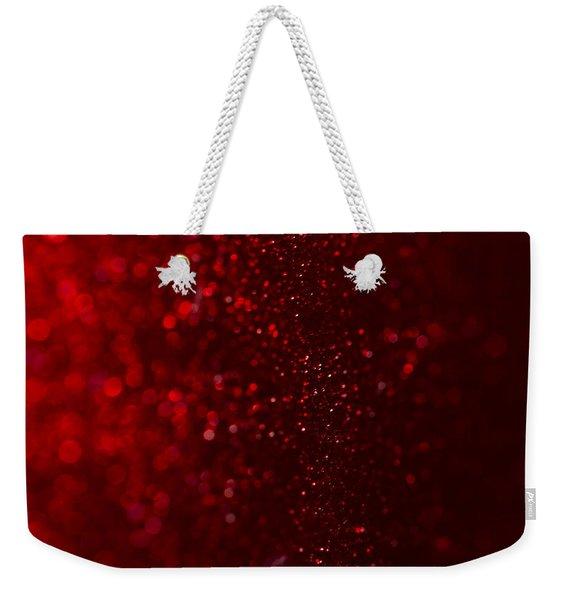 Red Sparkle Weekender Tote Bag