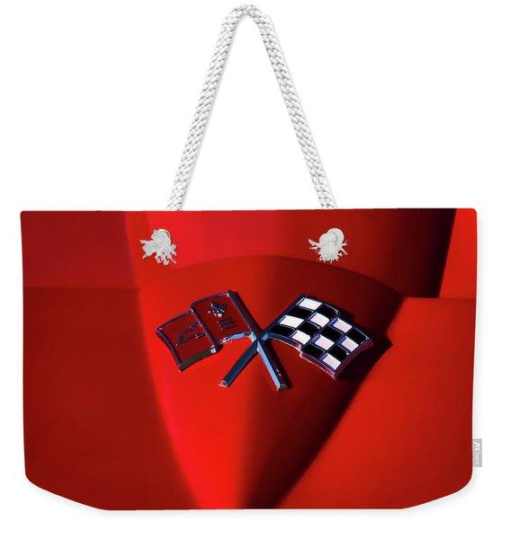 Red Stingray Badge Weekender Tote Bag