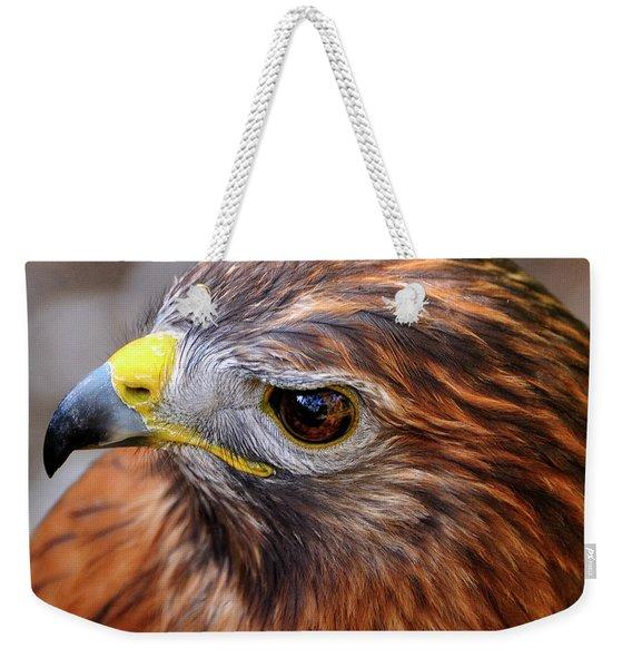 Red-tailed Hawk Close Up Weekender Tote Bag