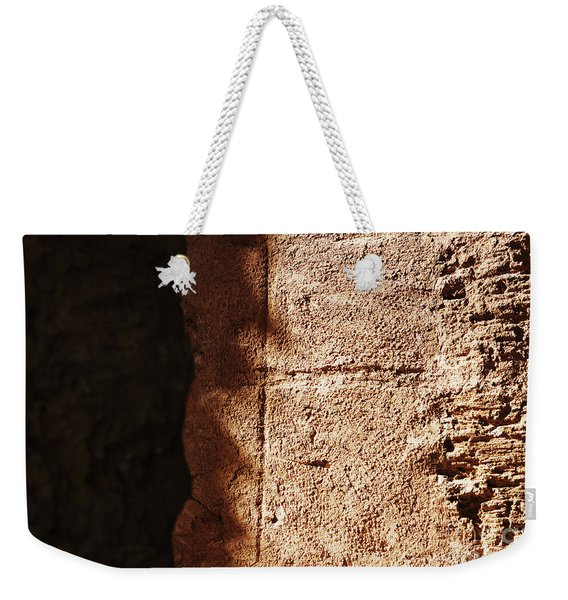 Red Texture Weekender Tote Bag