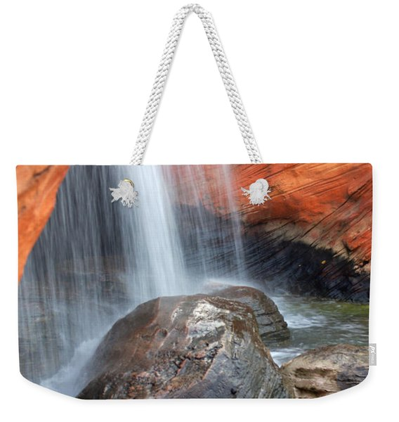 Red Waterfall Weekender Tote Bag