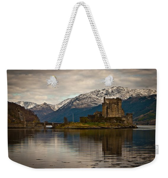 Reflection At Eilean Donan Weekender Tote Bag