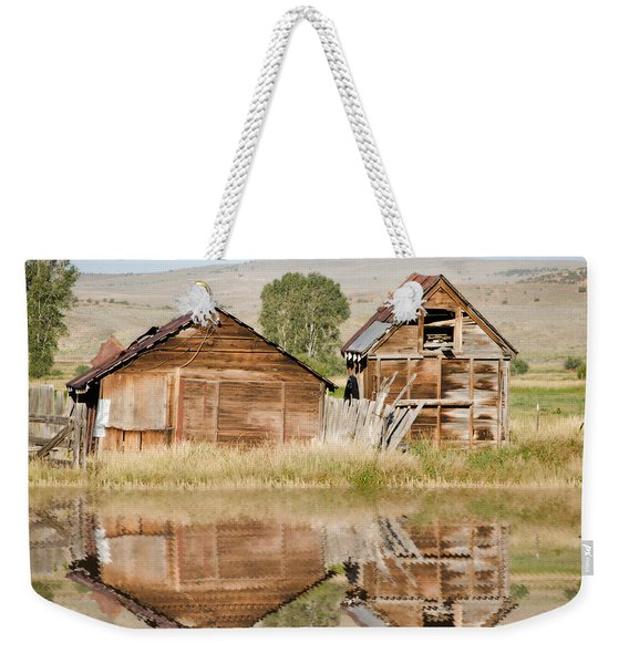 Reflection Of An Old Building Weekender Tote Bag
