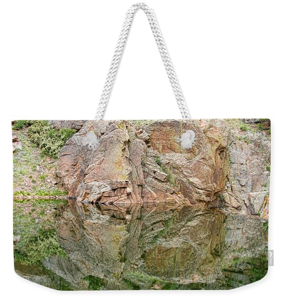 Reflections In The Colorado Rocky Mountains  Weekender Tote Bag