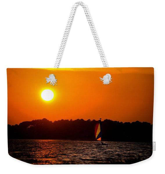 Relaxing Day On Dewey Bay Weekender Tote Bag