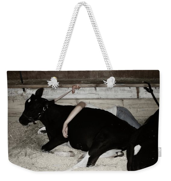 Weekender Tote Bag featuring the photograph Resting The Team by Wayne King