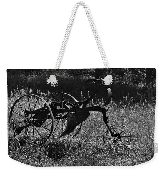 Weekender Tote Bag featuring the photograph Retired Farmer by Ron Cline