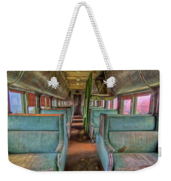 Riding In Coach Weekender Tote Bag