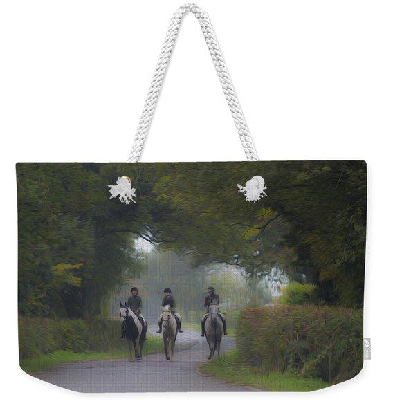 Riding In Tandem Weekender Tote Bag