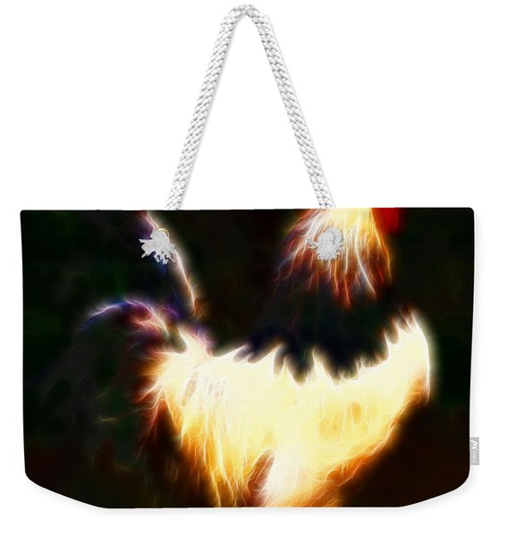 Rise And Shine Early Morning Rooster - Electric Weekender Tote Bag