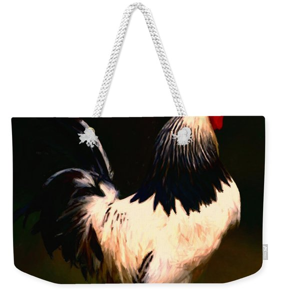 Rise And Shine Early Morning Rooster - Painterly Weekender Tote Bag