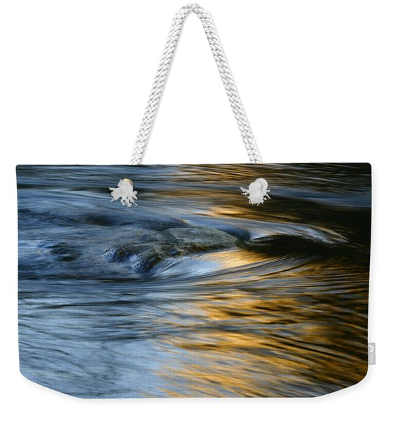 Rock And Blue Gold Water Weekender Tote Bag
