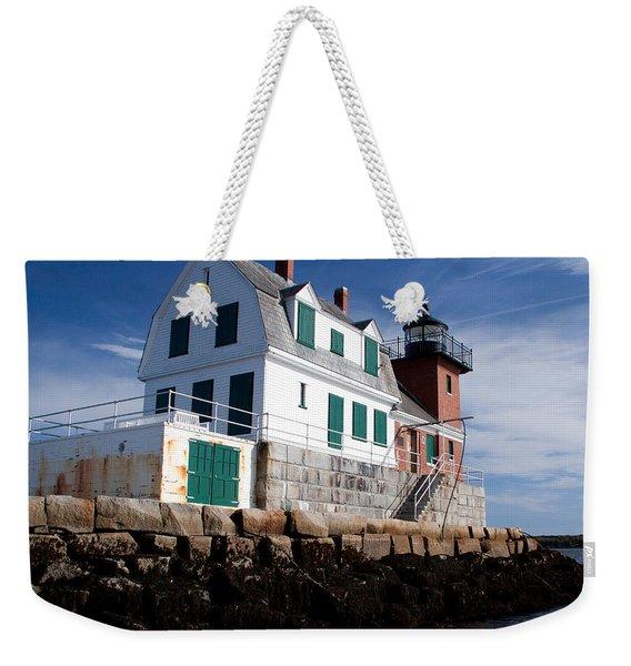 Rockland Breakwater Lighthouse Weekender Tote Bag