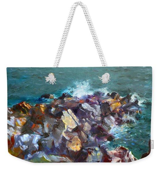 Rocks Against The Ocean  Weekender Tote Bag