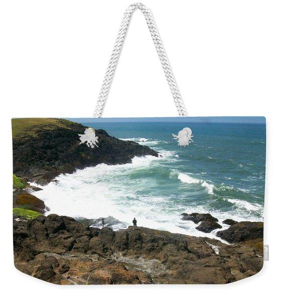 Rocky Ocean Coast Weekender Tote Bag