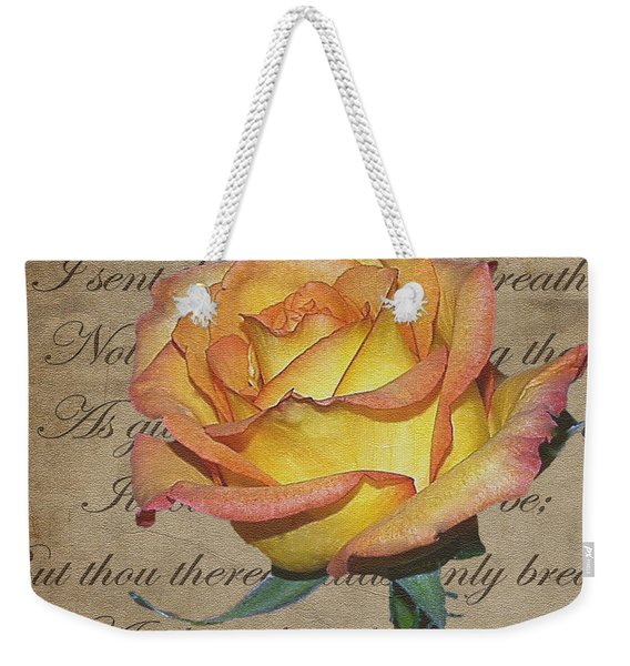 Romantic Rose Weekender Tote Bag