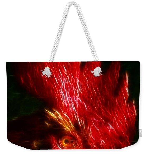 Rooster - Electric Weekender Tote Bag