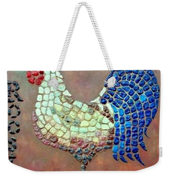 Weekender Tote Bag featuring the painting Rooster Lane by Cynthia Amaral