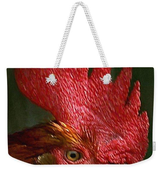 Rooster - Painterly Weekender Tote Bag