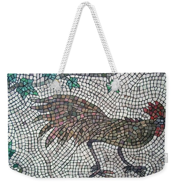 Weekender Tote Bag featuring the painting Rooster Run by Cynthia Amaral