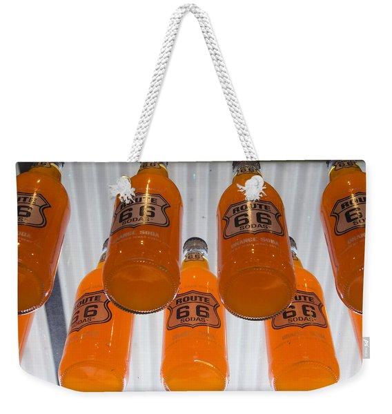 Route 66 Soda Weekender Tote Bag