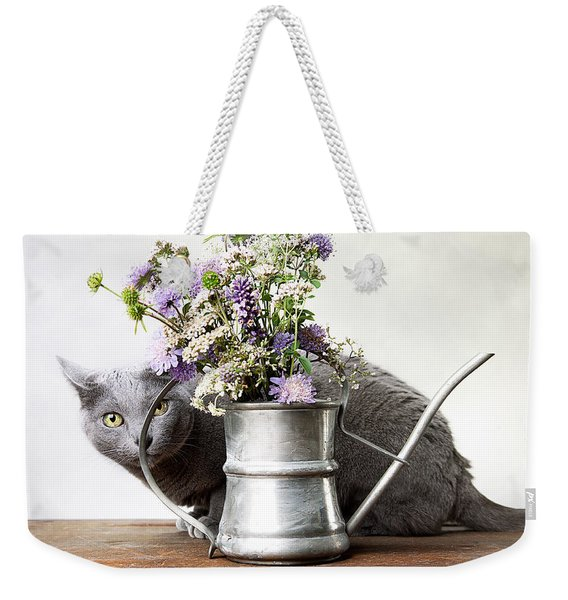 Russian Blue 03 Weekender Tote Bag