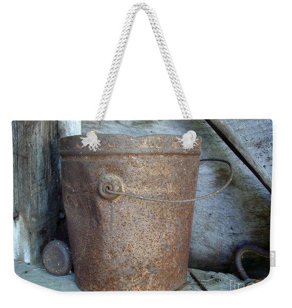 Rusty Bucket Weekender Tote Bag