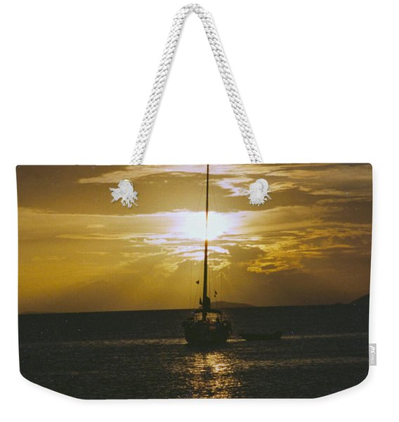 Weekender Tote Bag featuring the photograph Sailing Sunset by William Norton