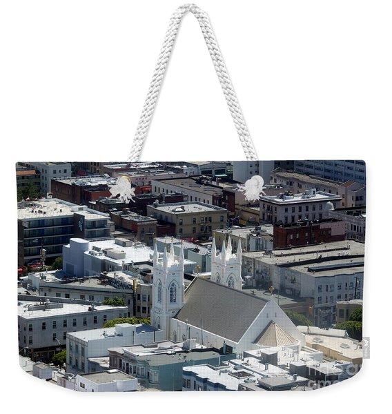 San Francisco St Francis Of Assisi Church Weekender Tote Bag