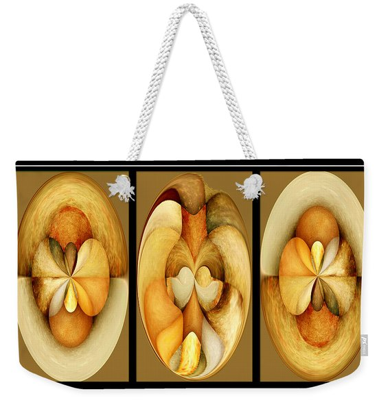 Sanded Woods Triptych Light Weekender Tote Bag